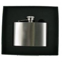 Brushed Stainless Steel Hip Flask 4oz RRP £16.99 Ltd offer 25% off